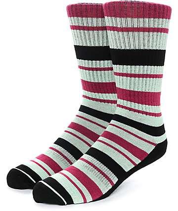 Zine Capsize calcetines en colores negro, lima y fresa