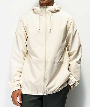 Zine Course Cream Windbreaker Jacket