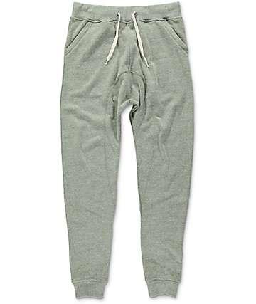 Zine Cover Triblend pantalones jogger de punto en color olivo