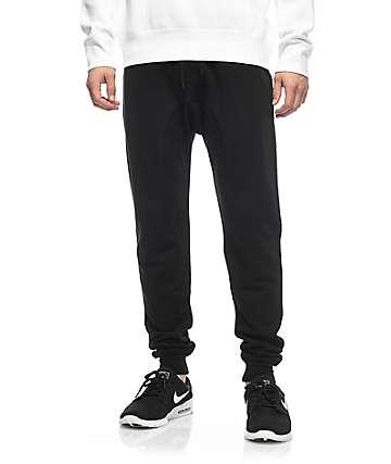 Zine Cover pantalones jogger tejidos solidos negros