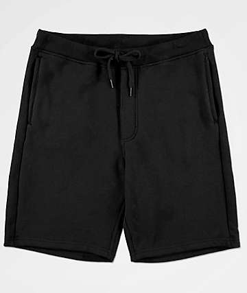 Zine Damon Black Fleece Lined Athletic Shorts