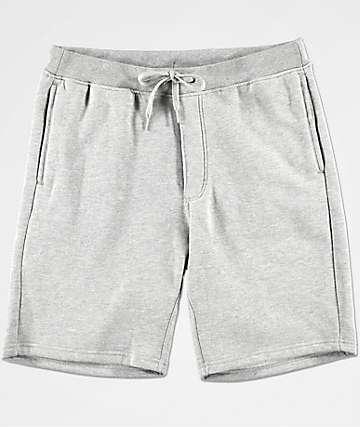 Zine Damon shorts deportivos en gris con forro de polar