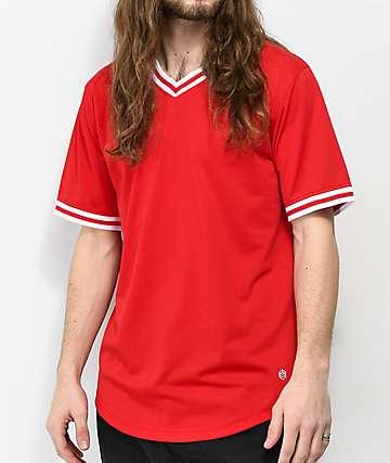 Zine Dugout Red Batting Jersey