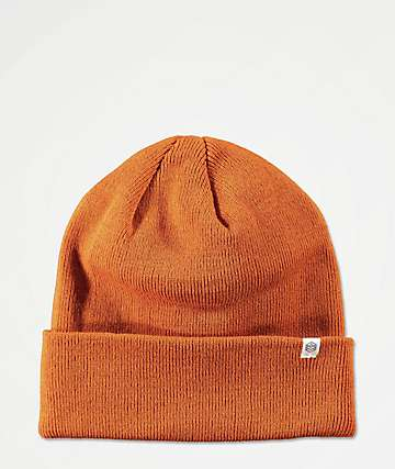 Zine Essential Rust Orange Beanie