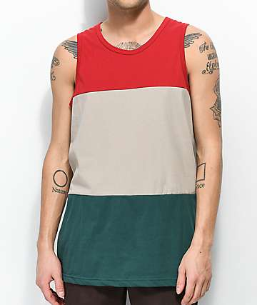 Zine Flavor Red, Brown & Green Tank Top