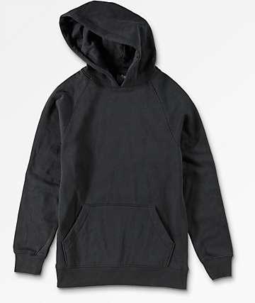 Zine Freshmix sudadera negra con capucha para niños