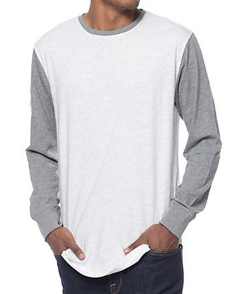 Zine Full House Natural & Grey Long Sleeve T-Shirt
