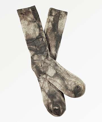 Zine Gargoyle Grey Tie Dye Crew Socks