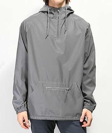 Zine Glo chaqueta anorak plateada reflectante