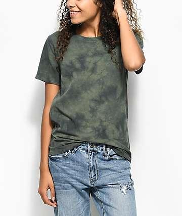 Zine Haleema Olive Tie Dye T-Shirt