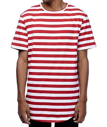 Zine Halfsies Red & White Striped T-Shirt