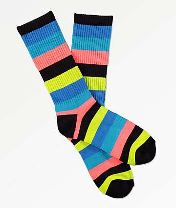 Zine Handjive Electric Blue Crew Socks