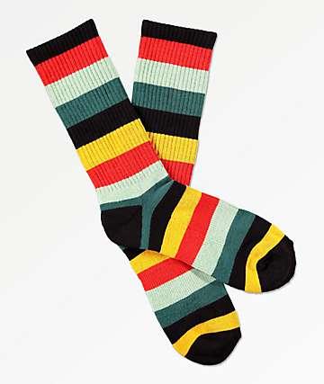 Zine Handjive Scarlet Flame Crew Socks