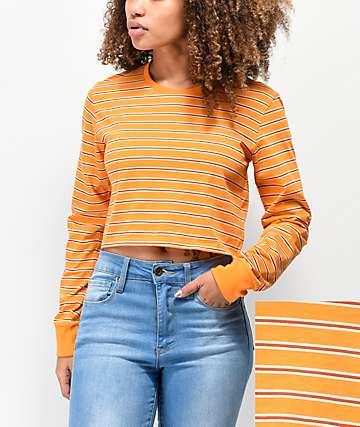 Zine Hannah camiseta naranja de manga larga de rayas