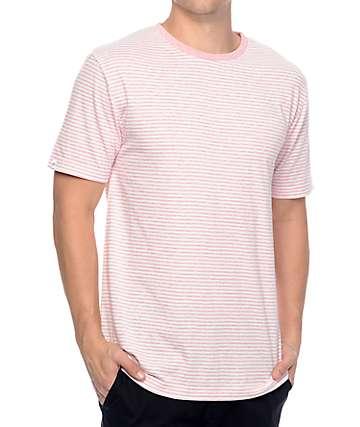Zine Hart Light camiseta a rayas en blanco y rosa