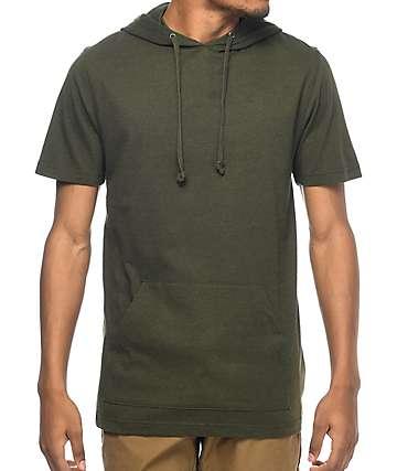 Zine Heading Home camiseta con capucha en verde olivo