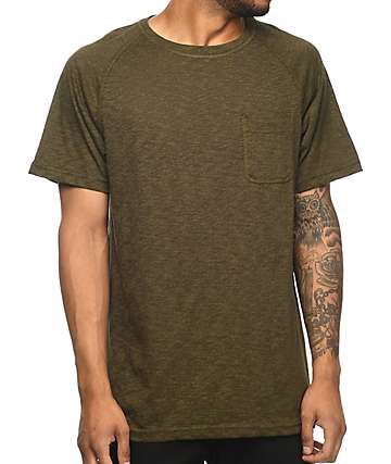 Zine Henry Olive Pocket T-Shirt