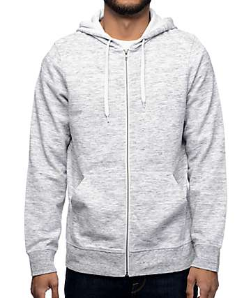 Zine Hooligan Grey Space Dyed Zip Up Hoodie