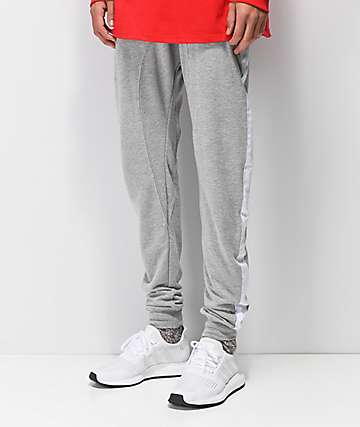 Zine Impulse Grey & White Knit Joggers