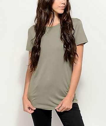 Zine Jaeda Olive Oversized T-Shirt