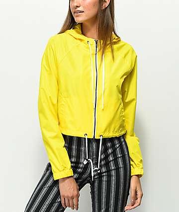 Zine Jaynie chaqueta cortavientos amarilla
