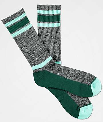 Zine Kick It Grey & Cabbage Crew Socks