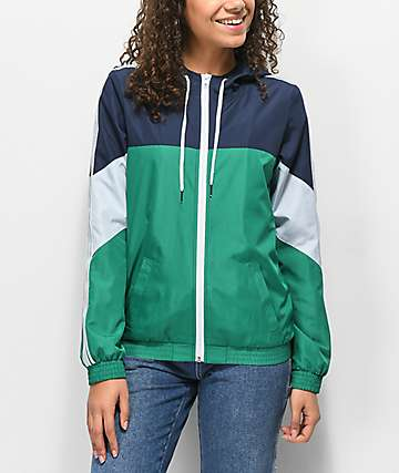 Zine Lainey Green Windbreaker Jacket