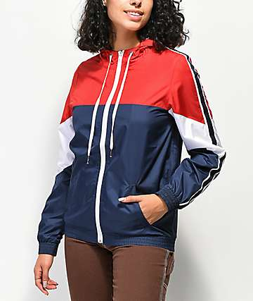 Zine Lainey Red, White & Blue Windbreaker Jacket