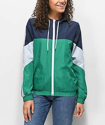 Zine Lainey chaqueta cortavientos verde