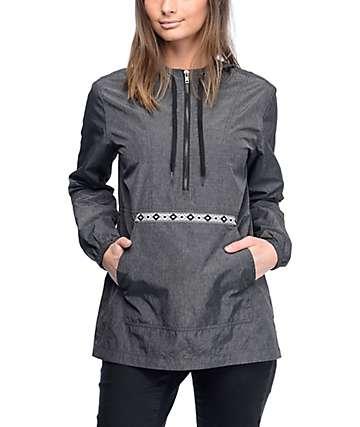 Zine Layna chaqueta cortavientos en negro