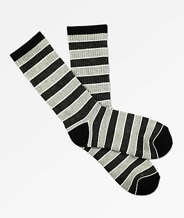 Zine Lemon Black & Grey Ice Crew Socks