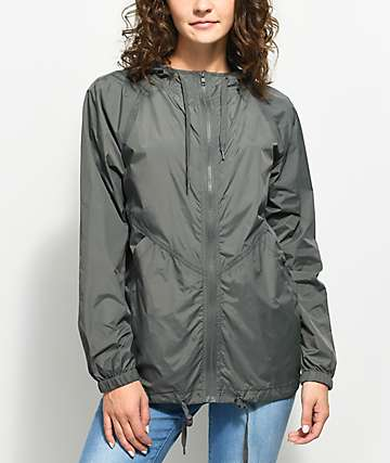 Zine Lenore Charcoal & Black Lining Windbreaker Jacket