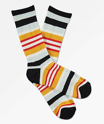 Zine Lifted Black & Honey Crew Socks