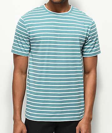 Zine Macro Blue & White Striped T-Shirt