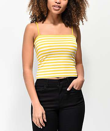 Zine Malone Yellow Stripe Tank Top