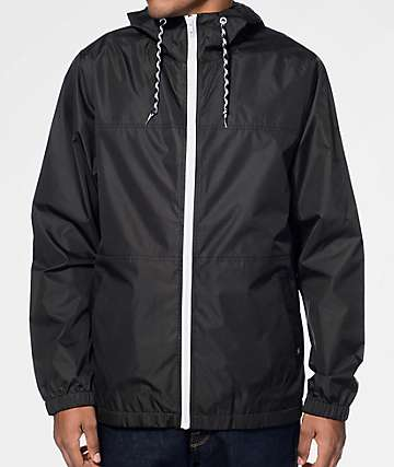 Zine Marathon Black Windbreaker Jacket