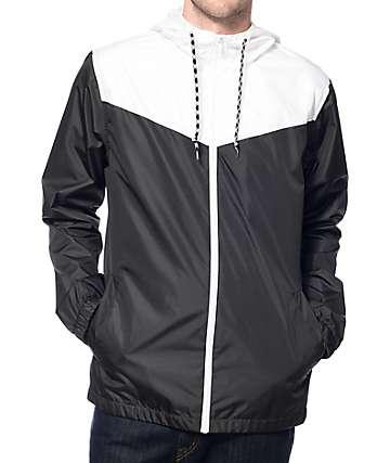 Zine Marathon chaqueta cortaviento blanca y negra