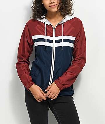 Zine Marina chaqueta cortavientos roja, blanca y azul