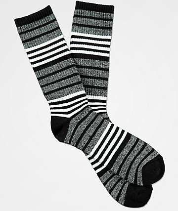 Zine Marlin White, Black & Grey Crew Socks