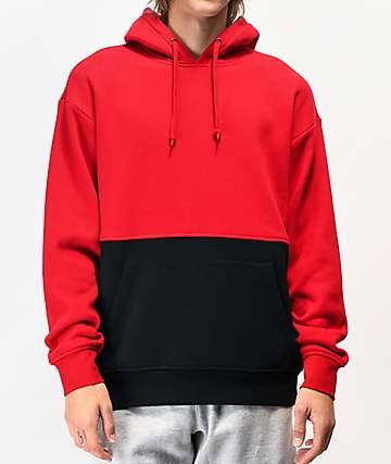 Zine Mass Red & Black Hoodie