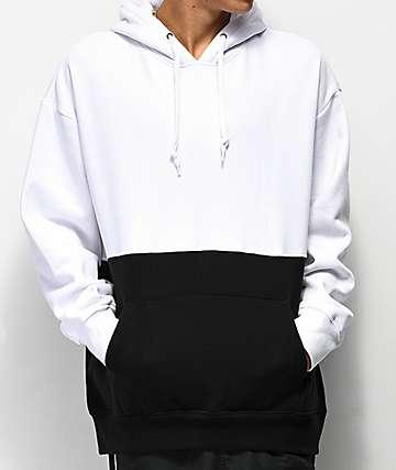 Zine Mass White & Black Hoodie