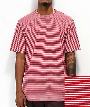Zine Micro Red & White Striped T-Shirt