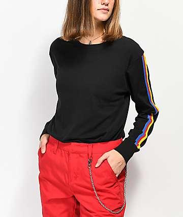 Zine Minerva camiseta negra de manga larga con cinta