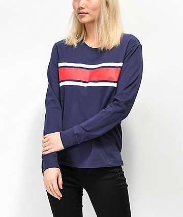 Zine Monroe camiseta azul de manga larga con rayas