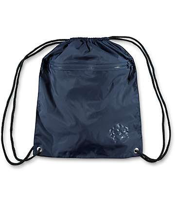 Zine Navy Cinch Bag