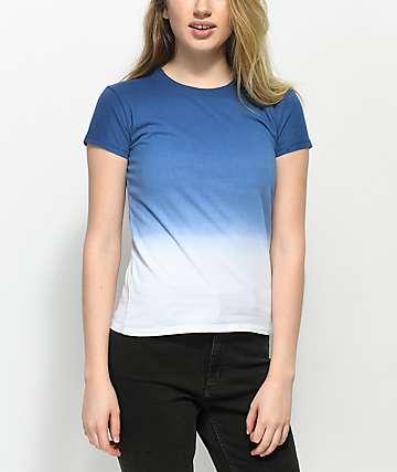 Zine Nikki Blue Dip Dye Baby T-Shirt
