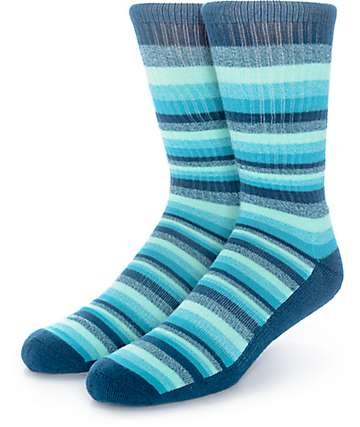 Zine Otherside Blue, Mint & Teal Crew Socks
