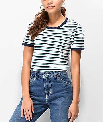 Zine Phinney camiseta de rayas verdes y azules
