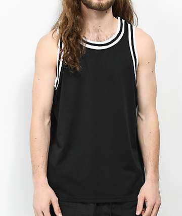 Zine Players Black Basketball Jersey