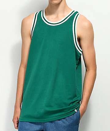 Zine Players Green Mesh Basketball Jersey